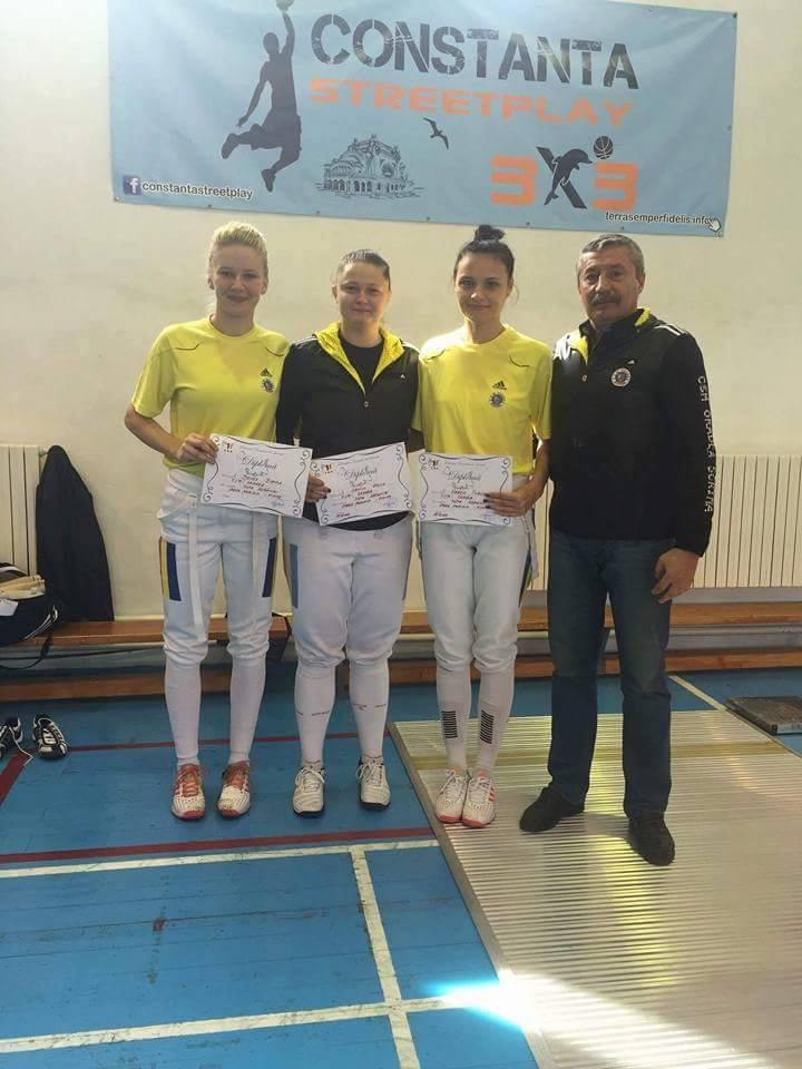 Medalie de argint pentru CSM LPS Oradea la Cupa României de spadă feminin în proba pe echipe