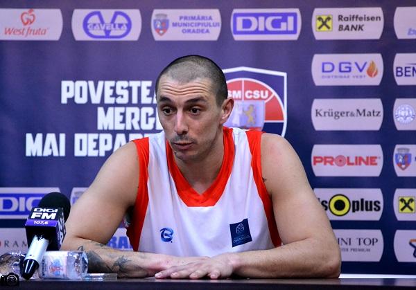 Declarații Andrei Mandache, jucător CSM CSU Oradea, la conferința de presă de luni (20.03)