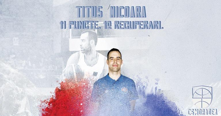 Primul double-double stagional pentru Titus Nicoară