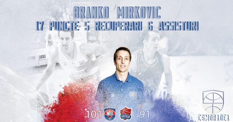 Aport consistent din partea lui Branko Mirkovic în succesul cu Kataja