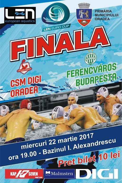 Actualizare. Informații bilete și acces la prima manșă a finalei LEN EuroCup