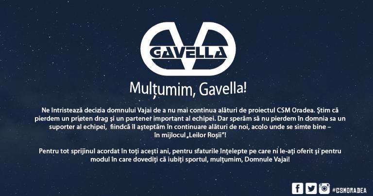 Mulțumim, Gavella!
